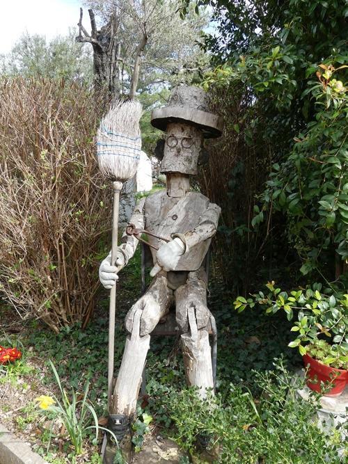 Représentation du jardinier par les jardiniers du Parc de Cap Martin