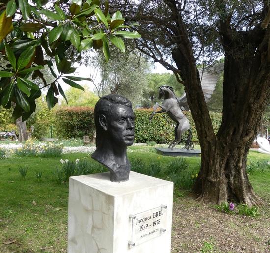 Jacques Brel au Parc de Cap Martin