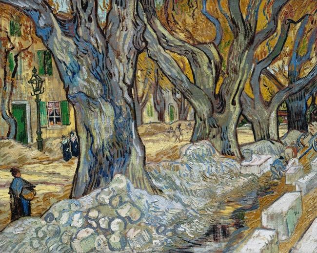 Les grands platanes de Vincent van Gogh