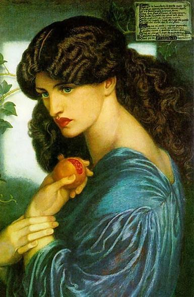 Proserpine d'après Gabriel Rossetti